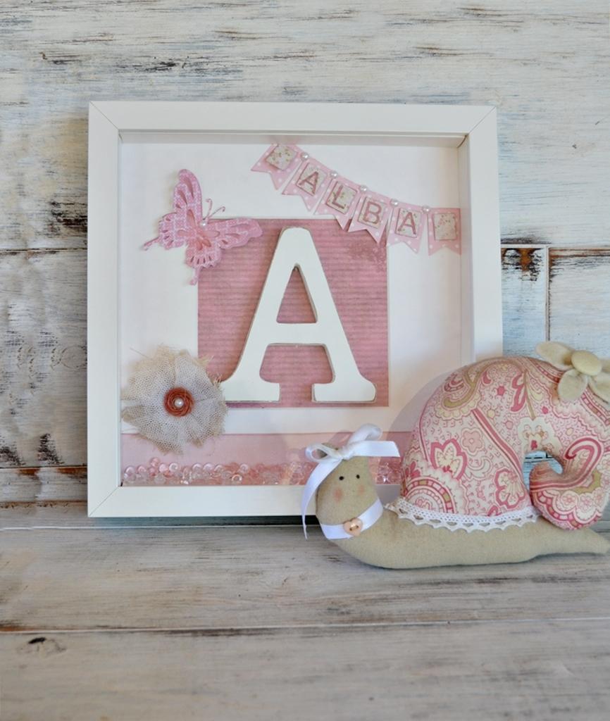 Wooden Letter Nursery Frame Handanahada