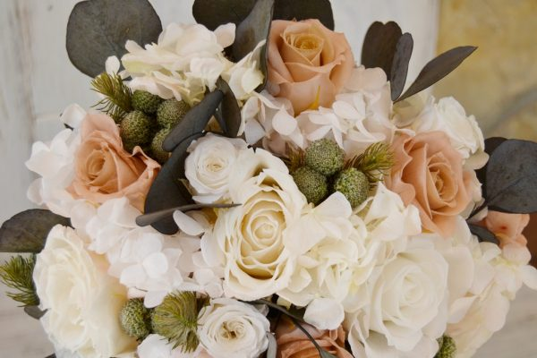 flesh-colored preserved bridal bouquet