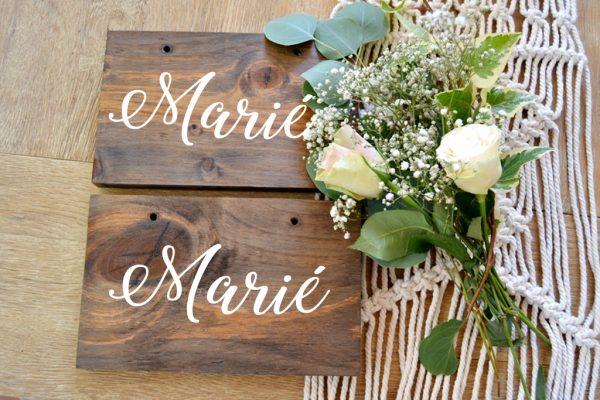 marié et mariée affiche