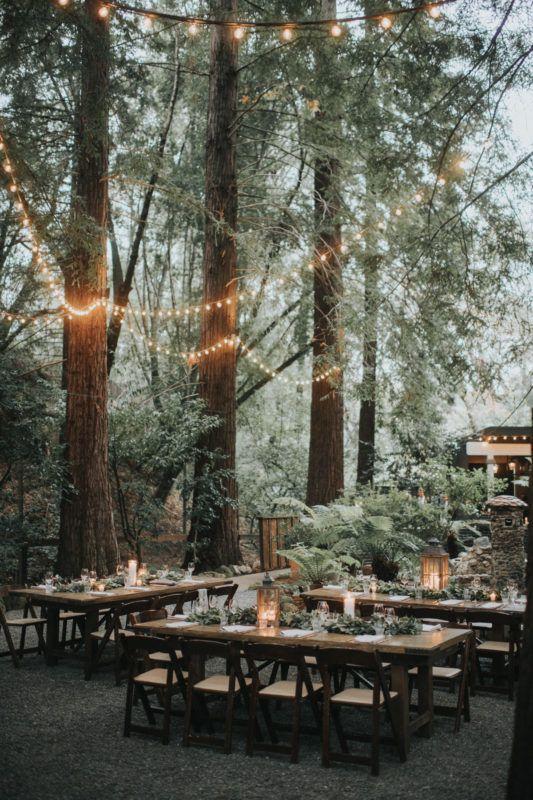 boda mágica en el bosque