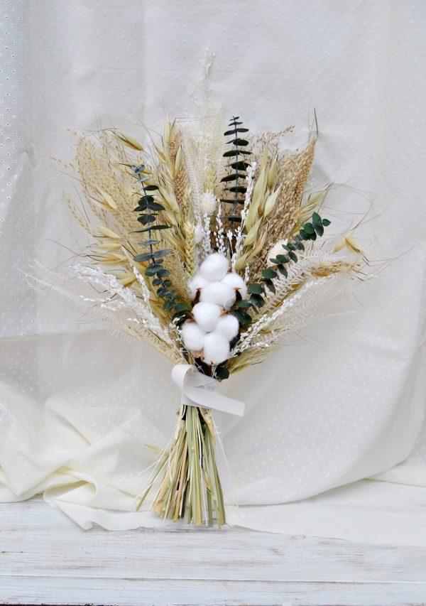 ramo novia algodón