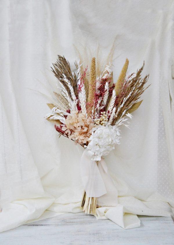 ramo novia flor seca boho