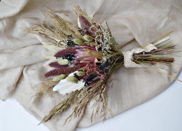 Bouquet de mariée Protea fleur séchée