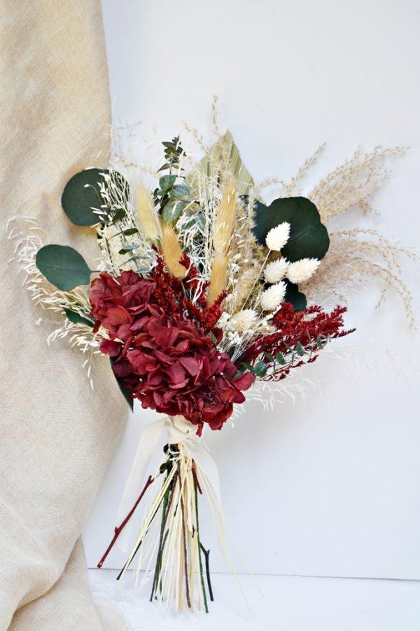 ramo novia granate