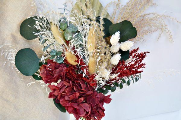 Burgundy Preserved Flowers Bouquet