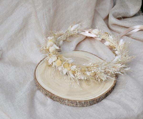 mariée couronne de fleurs