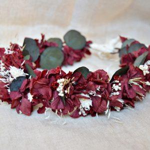 corona flores granate