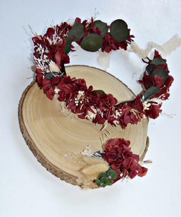 couronne de fleurs de grenat