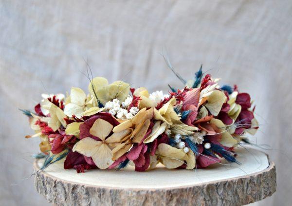 tocado novia flor preservada