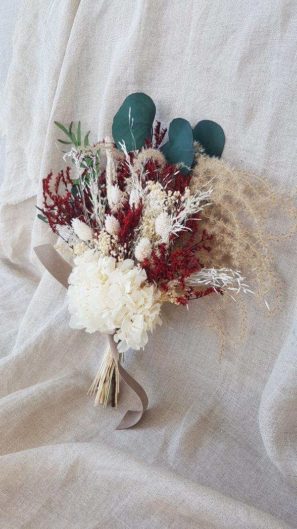 bouquet de mariée marron et blanc